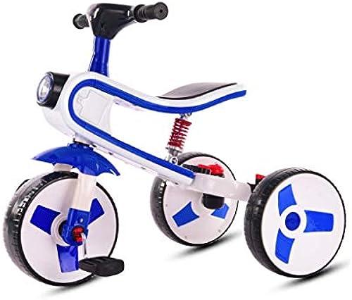 NBgy Dreirad, 3-in-1-Dreirad Für Kinder, Dreifach Verwendbar, 2-6 Jahre Altes Baby-Dreirad Für Draußen, 4 Farben, 60x70x42cm