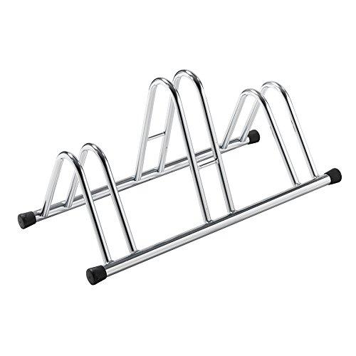 MV-TEK rastreliera Porta Bici 3 posti Acciaio (da Pavimento) / 3X Bike Parking Pavement Rack Steel (Floor)