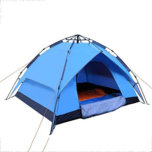 Tienda de campaña, tienda de familia Outdoortent impermeable impermeable liviano de la tienda de campaña Camping Playa UV Protección Outdoortent Camping, ( Color : Dark green , Size : Double layer )