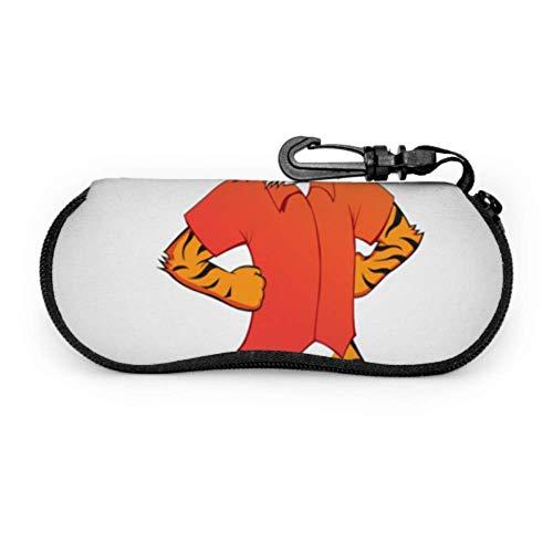 Funda para gafas de sol de neopreno con cremallera suave para gafas de sol de neopreno con cremallera suave