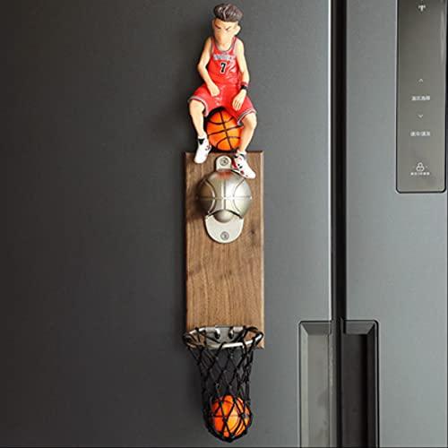 Abridores Abridor De Botellas Multifuncional Imanes De Nevera Accesorios De Cocina Herramientas Abridor De Cerveza Diseño De Cesta De Baloncesto