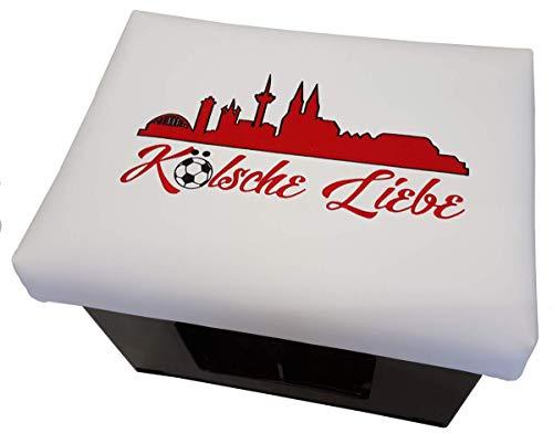BierEx Kölsche Liebe Bierkastensitz Bierkastenhocker Bierkisten Bierkasten Sitz Sitzkissen Hocker Polster Aufsatz Sitzauflage Bank Kissen Sprüche Getränkekiste ( Städte: Skyline Köln )