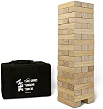 Yard Games Giant Tumbling Timbers with carrying case starts at 2.5-feet tall and builds to 5-feet