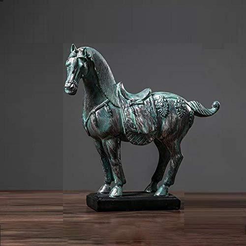 ZQQQC Estatuas Decorativas Figuritas Decorativas Decoraciones para El Hogar Artesanía De Caballos Decoración De La Sala De Estar De La Fortuna