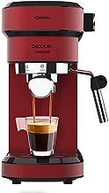 Cecotec Cafelizzia 790 Shiny - Cafetera para Espressos y Cappuccino, 1350 W,  Sistema Thermoblock, 20 Bares, Modo Auto para 1-2 Cafés, Vaporizador Orientable, 1.2L, Rojo