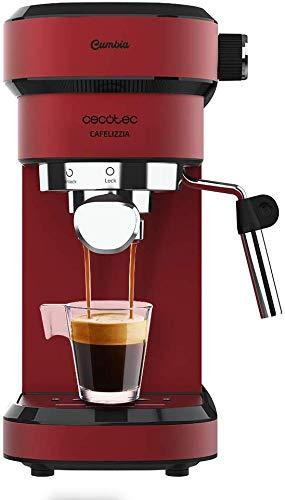 Cecotec Cafelizzia 790 Shiny ekspres do kawy espresso i cappuccino, 1350 W, system Thermoblock, 20 bar, tryb automatyczny do 1-2 kawy, obrotowy prostownik parowy, 1,2 l, czerwony