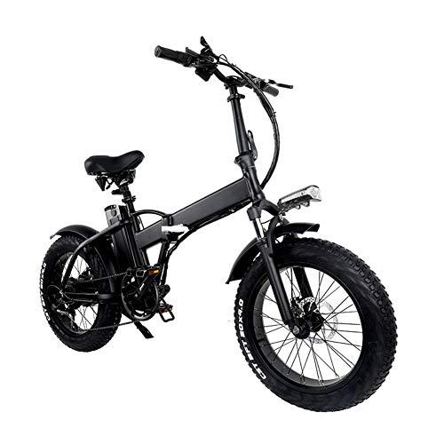 Bicicleta plegable eléctrica, ligero plegable compacto de bicicletas 7 Velocidad crucero de...