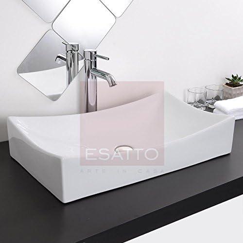Esatto Econokit Vela Paquete de baño de lavabo cerámico llave monomando contra y céspol