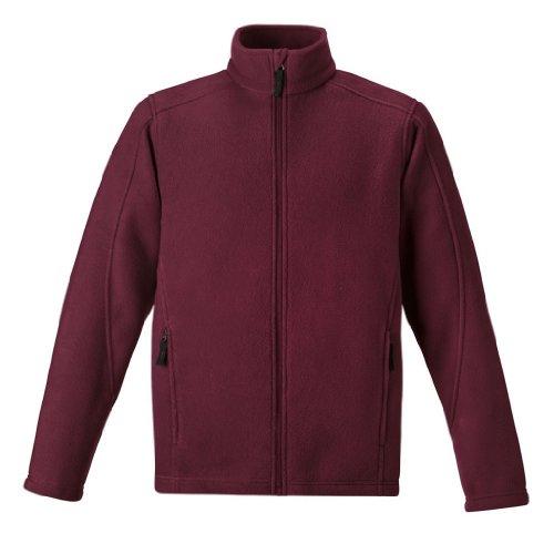 of boys bowling jackets Ash City Mens Journey Core 365 Fleece Jacket (X-Large, Burgundy)