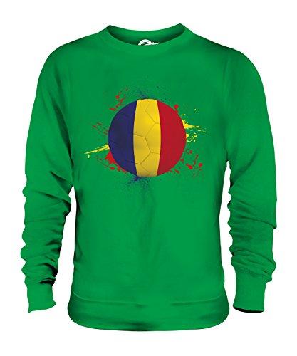 Candymix - Romania Football Splatter - Sudadera unisex para hombre y mujer, verde (Irish Green), XXL
