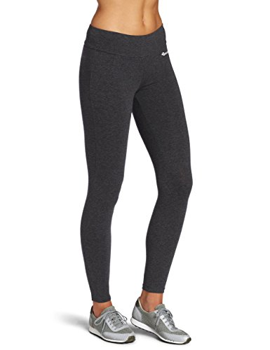 BAOMOSI Women's Cotton Essentials Ankle Leggings Running Workout Yoga Pants Grey L