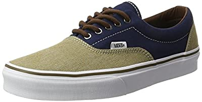 Vans Womens T H Dress Blues Fabric Low Top Lace Up Fashion Sneakers