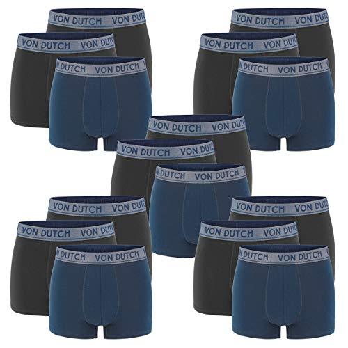 Von Dutch 15er Pack Original Boxer Brief Boxershorts Herren Unterwäsche VD1BCX3ORIGI, Farbe:Navy/Black/Black, Bekleidungsgröße:M
