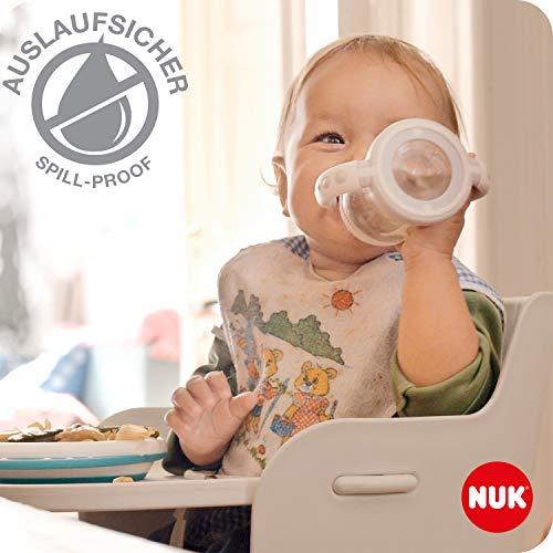 NUK Disney First Choice+ tazza biberon | 6+ mesi | Beccuccio in silicone a prova di perdite | Sfiato anti-coliche | Senza BPA | 150ml | Mickey Mouse (grigio) | 1 pezzo