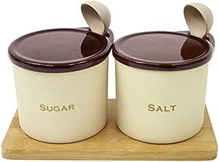 【調味料入れ 陶器 固まりにくい】パラパラ素焼きポット小 ソルト&シュガーセット 300ml(B814)