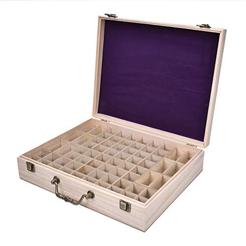 Preisvergleich Produktbild Ardorman Holzkiste Mit Ätherischen Ölen,  Aufbewahrungsbox Für Ätherische Öle Mit 68 Steckplätzen,  Tragbarer Organizer Für Ätherische Öle Für Reisen Und Präsentationen (ohne Ätherische Öle)