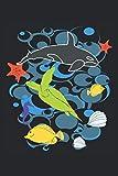 Ilustración de vida marina: Cuaderno forrado con obsequios para acuarios de biología marina (formato A5, 15,24 x 22,86 cm, 120 páginas)