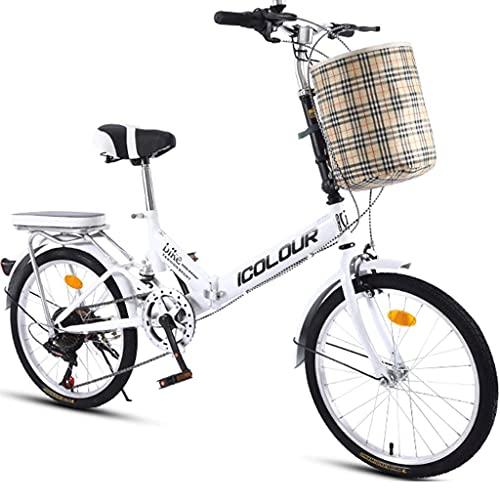 Bicicletas Plegables Bicicletas De Montaña con Cestas, Bicicletas Deportivas Velocidad Variable Bicicletas...