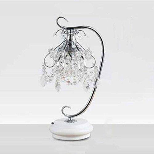 CSD Lámpara de mesa moderna simple lámpara de mesa de dormitorio moda lámpara de cristal creativo cálida decoración de la boda lámpara de atenuación, E27