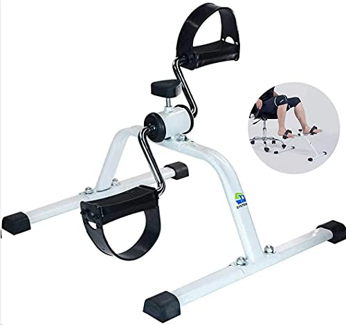 Synteam Mini Exercise Bike Compact Pedal Exerciser Under Desk Bike Low Impact Bike Exercise Machine for Arms Legs