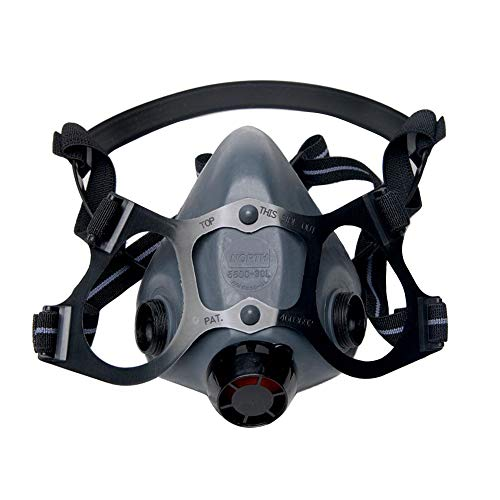 Honeywell North 5500 Series Niosh-Approved Half Mask Respirator, Medium (550030M)