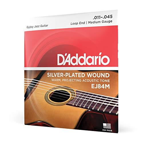 d'Addario EJ84M - Juego de cuerdas para guitarra acústica de nylon, 011' - 045' (extremo de lazo) transparente