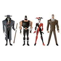 DC Universe Justice League Unlimited Exclusive Action Figure 4-Pack Gotham City Criminals (Clock King Harley Quinn Bane and Scarecrow)