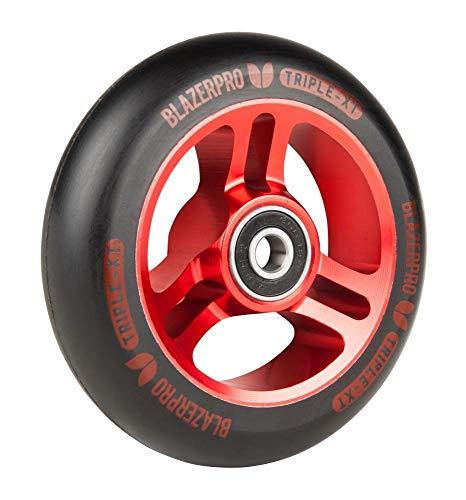 BLAZERPRO Blazer Pro Scooter Wheel Ruedas Patinaje Unisex Adulto, Multicolor (Black/Red), 100