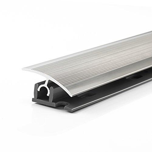 Ubergangsprofil klick 34mm 90cm Edelstahl Poliert Belagstarken 7 bis 15mm Aluprofil Basisprofil