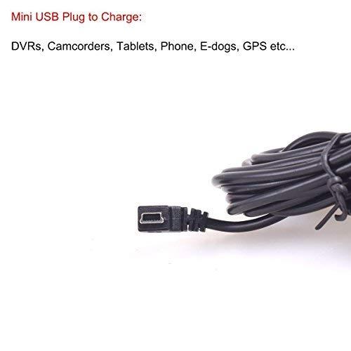 CoCar OBD2 DVR Dashcam Ladekabel Mini USB Adapter mit Schalter, 16 Pin OBDII Auto/Fahrzeug direkt zur Batterie/ Festverkabeltes Kabel Autoladegerät für PDA Handy GPS Tablette – 3M/11.5FT Draht – DC12-24V zu 5V - 7