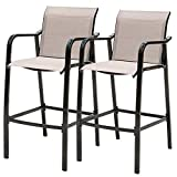Sundale Outdoor Counter Height Bar Stool All Weather Patio Furniture with Quick-Dry Textilene Fabric, 2 PCS...