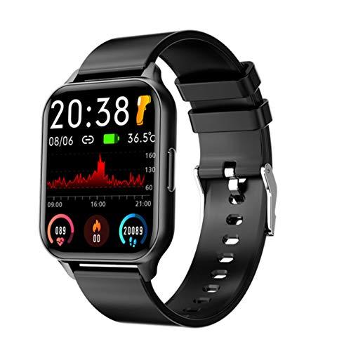 Ny Q26 Smart Watch Men Kvinnor Full Touch Fitness Tracker Blodtryck Hjärtfrekvens Monitor SmartWatch för Android IOS,a
