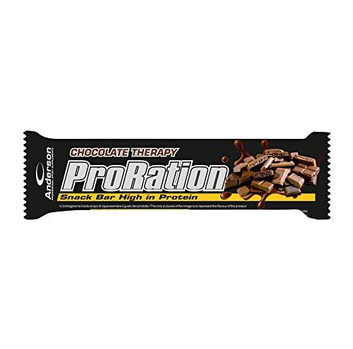 AndersonResearch 16 Barrette Proteiche 29% ProRation Snack Bar Chocolate therapy- Whey protein Proteine del siero del latte, Caseinato di Calcio, Proteine isolate disoia, 45g (Chocolate therapy)
