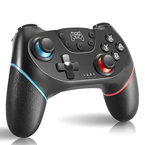 AlBetter Controlador inalámbrico Pro para Nintendo Switch, con doble vibración y función Turbo con cable de carga