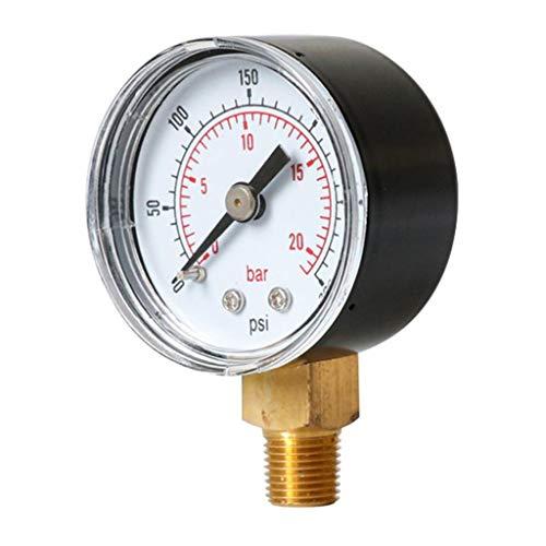 B Baosity 0-300psi 0-20bar Manomètre de Pression Cadran de Vide d'air TS-Y40Z8