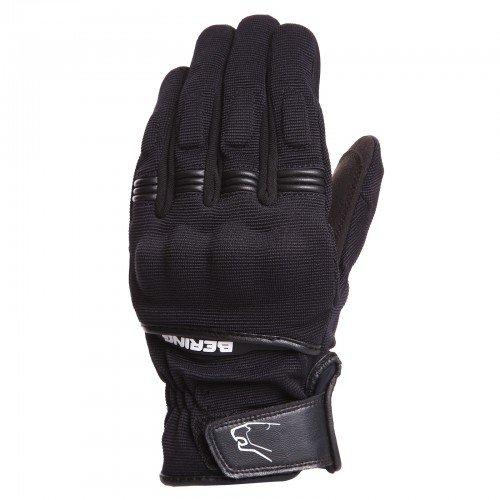 Bering - Guantes para moto (forro polar), color negro