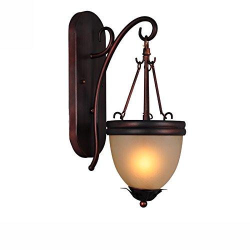 ZWL Rétro lampe de nuit à la pièce à coucher en fer lampe murale de salon, créative E27 tête simple 18 * 43 cm Lampes et lanternes pour décoration à la maison mode (taille : 18 * 43CM)