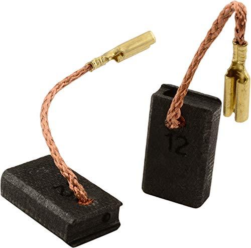 Escobillas de Carbón para METABO WQ 1000 amoladora - 5x10x16mm - 2.0x3.9x6.3'' - Con dispositivo de desconexión