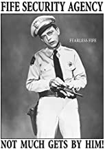 Desperate Enterprises The Andy Griffith Show - Fife Security Agency Tin Sign, 11