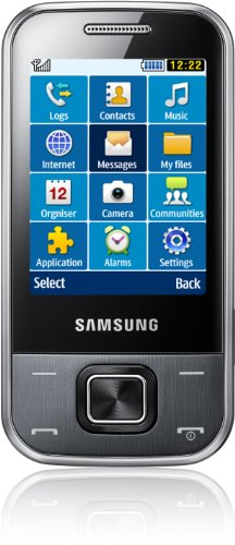 Samsung C3750 Handy (6,1 cm (2,4 Zoll) Display, MP3, 3 MP Kamera, Bluetooth) metallic grau