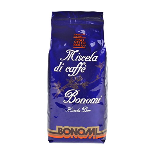 Bonomi Kaffee Espresso Blu Miscela Di Caffe, 1000g Bohnen