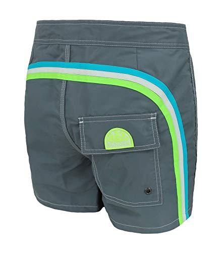 Sundek Disfraz de hombre original – BS RB – Low Rise 14 – Pantalón corto de playa (42, Medium Grey #6)
