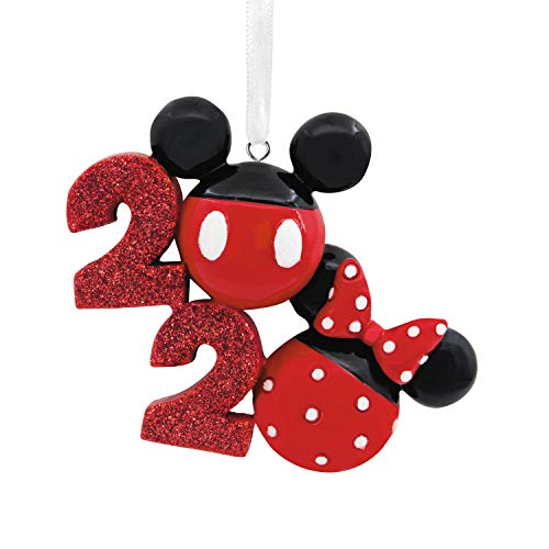Hallmark Christmas Ornament 2020 Year-Dated, Disney Mickey and Minnie Icons