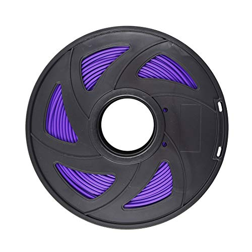 3D Printer Filament - 1KG (2.20 lbs) The Diameter of 3 mm, Dimensional Accuracy PLA Multiple Color, Purple