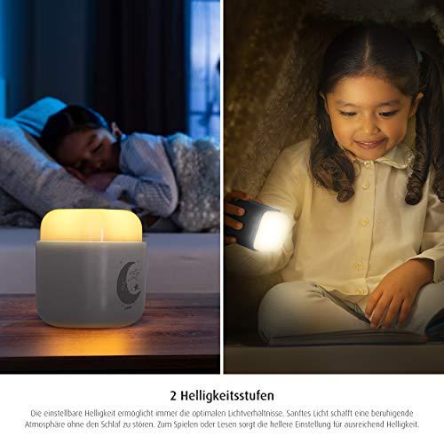 reer SleepLight 2in1 Nachtlicht für die Steckdose und mit Akkubetrieb, cool grey - 6