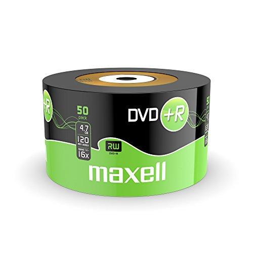 50 STK. Maxell DVD+R 4,7GB 16x in Shrink