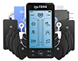 Tens Unit Machine Device 24 Massage Modes Newest Model Muscle Stimulator for Lower Back Neck Shoulder Pain Relief Massager Comes With 10 Pads [5 Pairs]