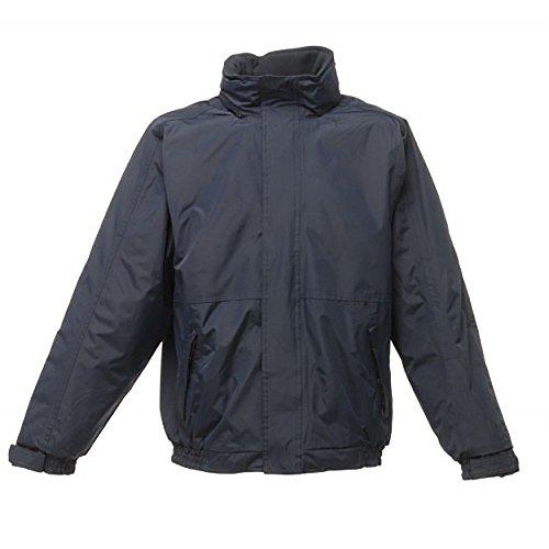 Regatta Dover Waterproof Concealed Hooded Fleece Lined Bomber Jacket Jackets Waterproof Insulated, Hombre, Navy/Navy, 5XL