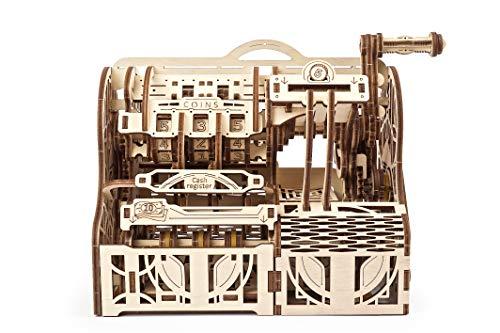 UGEARS maquetas para Construir para Adultos- Caja registradora Puzzle 3D - Modelo mecánico uniqo - Kit para Adultos y Adolescentes - Rompecabezas Madera 3D para Construir - Kits de construcción 3D