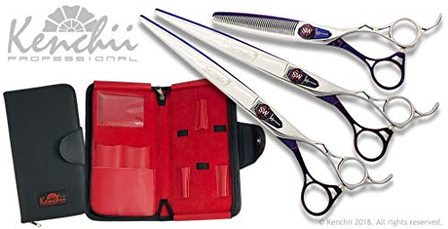 Kenchii Sue Watson Signature Series Dog Grooming Shears for Professional Groomers (3 Shear Set)